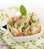 Crevettes et pâtes Photo libre de droits