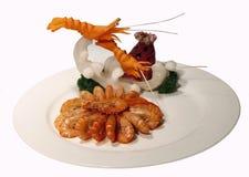 Crevettes faites sauter à feu vif Image stock