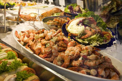 Crevettes fraîches Images libres de droits