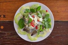 Crevettes fraîches en sauce à poissons Photo libre de droits