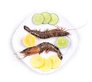 Crevettes fraîches délicieuses Image stock