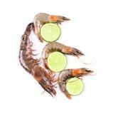 Crevettes fraîches délicieuses Images stock
