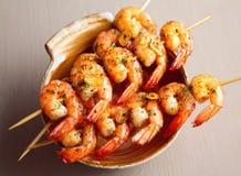 Crevettes frites épicées Photographie stock libre de droits
