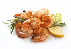 Crevettes frites Photo libre de droits