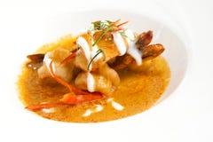 Crevettes frites par cari Photo libre de droits