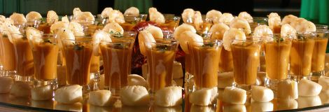Crevettes gastronomes Image libre de droits