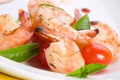 Crevettes grillées image libre de droits