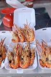Crevettes grillées Photos libres de droits
