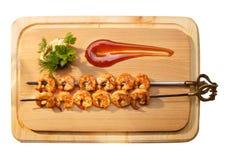 Crevettes grillées Images libres de droits