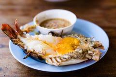 Crevettes grillées Photos stock