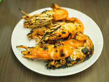 Crevettes grillées Photo libre de droits