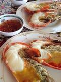 Crevettes grillées photographie stock libre de droits