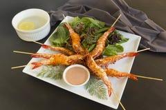 Crevettes grillées Photographie stock
