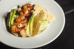 Crevettes grillées assiette Fruits de mer image libre de droits