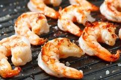 Crevettes grillées de tigre Images libres de droits