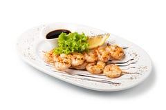 Crevettes grillées fraîches photographie stock