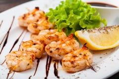 Crevettes grillées fraîches photo stock