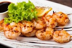 Crevettes grillées fraîches photographie stock libre de droits