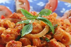 Crevettes roses épicées Image stock