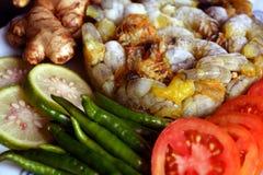 Crevettes roses congelées photo libre de droits