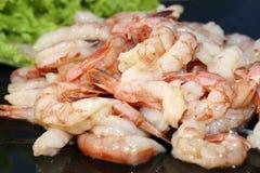 Crevettes roses crues Photographie stock libre de droits