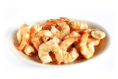 Crevettes roses cuites Image stock