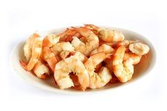 Crevettes roses cuites Image stock