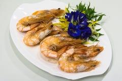 Crevettes roses cuites au four Photo libre de droits