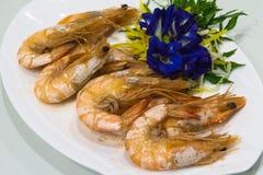 Crevettes roses cuites au four Image libre de droits