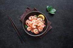 Crevettes, crevettes roses image stock