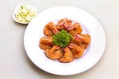 Crevettes roses de Panko Photo stock
