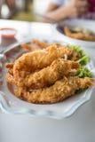 Crevettes roses frites Image libre de droits