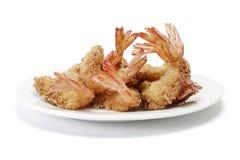 crevettes roses frites Photographie stock libre de droits