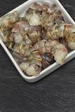 Crevettes roses géantes crues Photographie stock