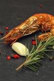 Crevettes roses géantes grillées Photo libre de droits
