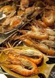 Crevettes roses géantes fraîchement pêchées Photo stock