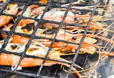Crevettes roses grillées Photographie stock libre de droits