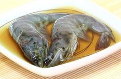 Crevettes roses ivres. photos libres de droits