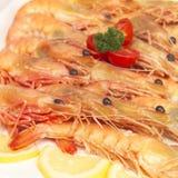 Crevettes roses n'importe qui ? Images stock