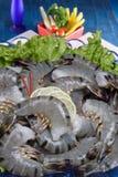 Crevettes roses noires de tigre Photos libres de droits