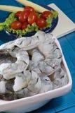 Crevettes roses noires de tigre photos stock