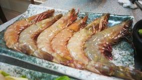 Crevettes roses pour le pot chaud en Hong Kong photos stock
