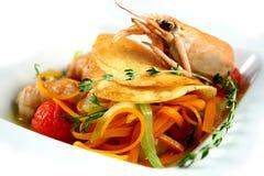 Crevettes royales braisées Image libre de droits
