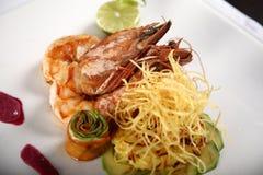 Crevettes royales de tigre dans chic Images stock