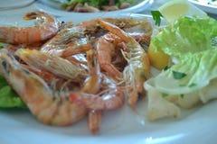 Crevettes très savoureuses Photo libre de droits