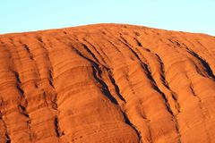 Crevice details from Uluru. Crevice details from a famous Uluru, a world heritage landscape in outback Australia. Ayers Rock. Northern Territory, Australia Stock Images