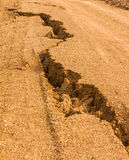 Crevice dirt road Stock Photography