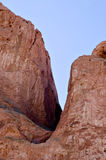 Crevice in Red Sandstone and Blue Sky Royalty Free Stock Photo