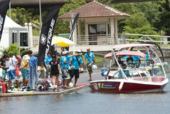 Crew of 2011 IWWF Waterski & Wakeboard Competition Stock Image