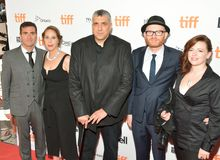 Crew of `The Breadwinner` at the Toronto International film festival. Producers and Writers of `The Breadwinner` on September 10, 2017 in Toronto, Canada at the Stock Photography